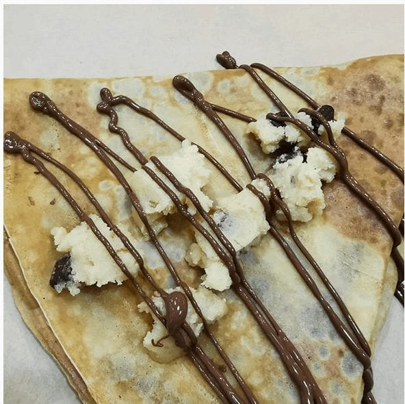 crepe cookie dough